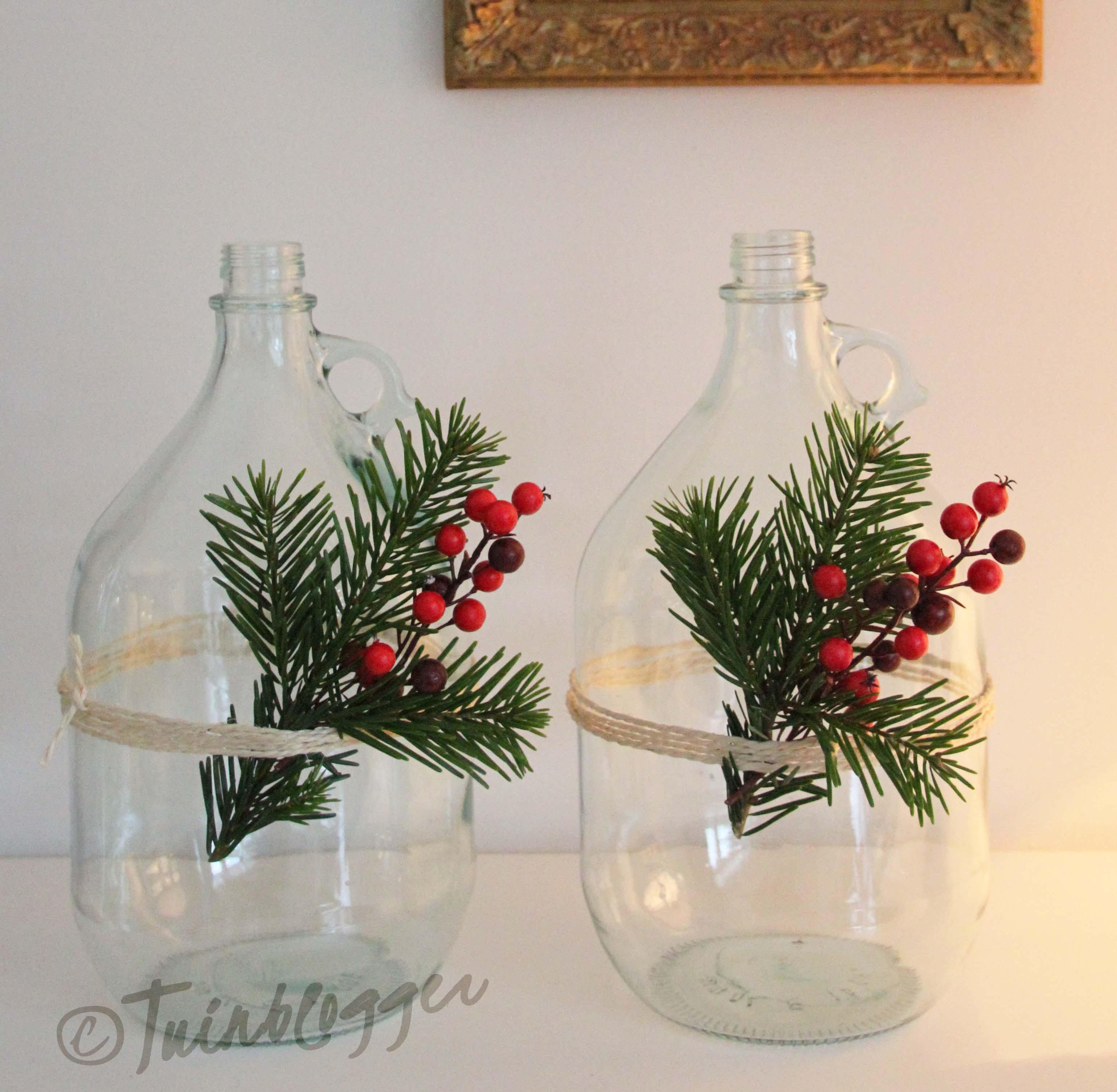 fles-met-kerstversiering