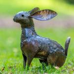 beeld-metaal-haas-tuinblogger-kunst-afrika-mooie-dieren
